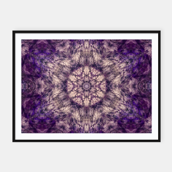 mandala violet and white Plakaty w ramie  miniature