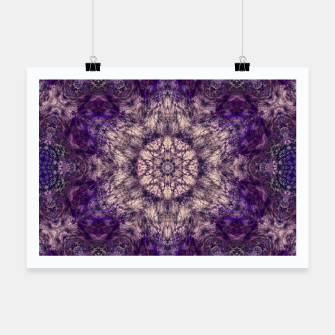mandala violet and white Plakat miniature