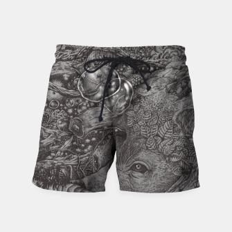 Thumbnail image of AN EMPTY DREAM Swim Shorts, Live Heroes