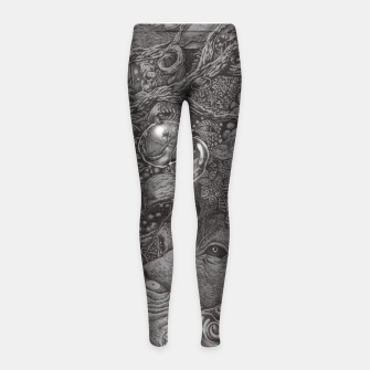 Thumbnail image of AN EMPTY DREAM Girl's Leggings, Live Heroes