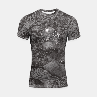 Thumbnail image of AN EMPTY DREAM Shortsleeve Rashguard, Live Heroes