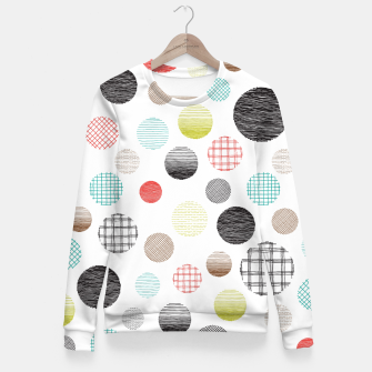 Thumbnail image of Drawn Circles Fitted Waist Sweater, Live Heroes