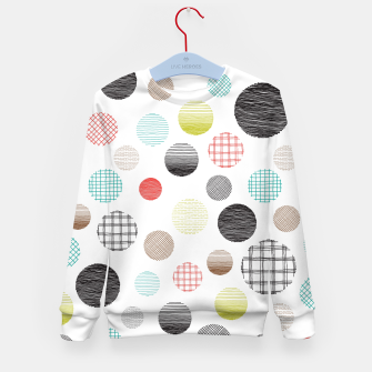 Miniature de image de Drawn Circles Kid's Sweater, Live Heroes