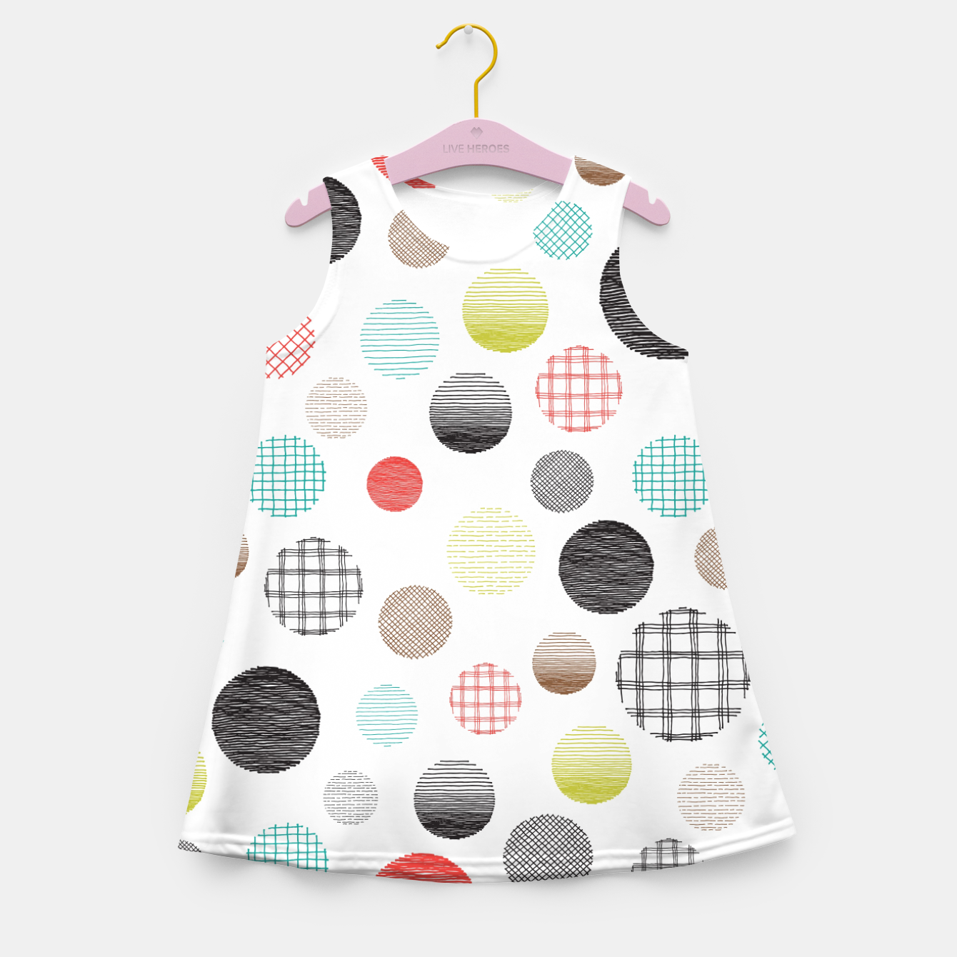 Image de Drawn Circles Girl's Summer Dress - Live Heroes