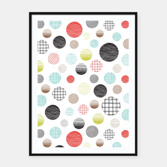 Drawn Circles Framed poster miniature