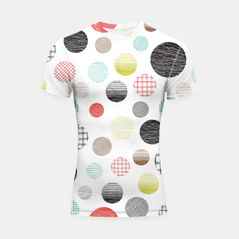Thumbnail image of Drawn Circles Shortsleeve Rashguard, Live Heroes
