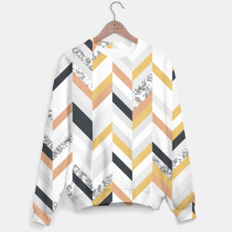 Marble and Gold Chevron Sweater obraz miniatury