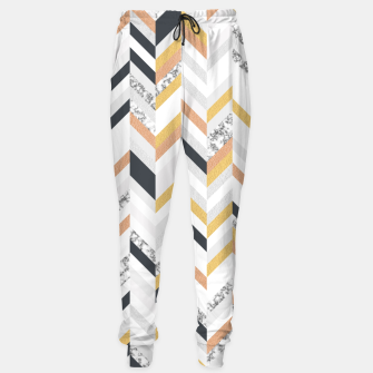 Marble and Gold Chevron Sweatpants obraz miniatury