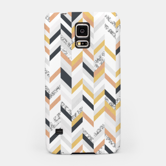 Thumbnail image of Marble and Gold Chevron Samsung Case, Live Heroes