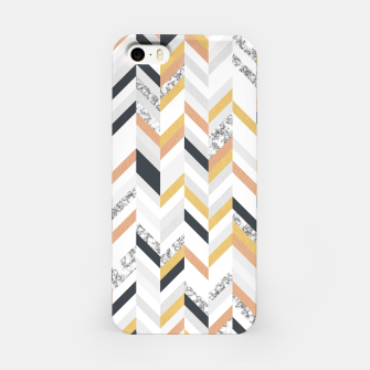 Marble and Gold Chevron iPhone Case obraz miniatury