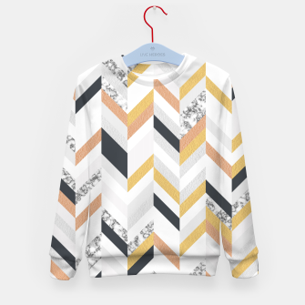 Miniature de image de Marble and Gold Chevron Kid's Sweater, Live Heroes