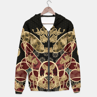 Thumbnail image of Baroque Japanesque design black Hoodie, Live Heroes