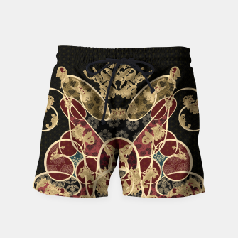 Thumbnail image of Baroque Japanesque design black Swim Shorts, Live Heroes