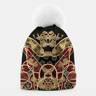 Thumbnail image of Baroque Japanesque design black Beanie, Live Heroes