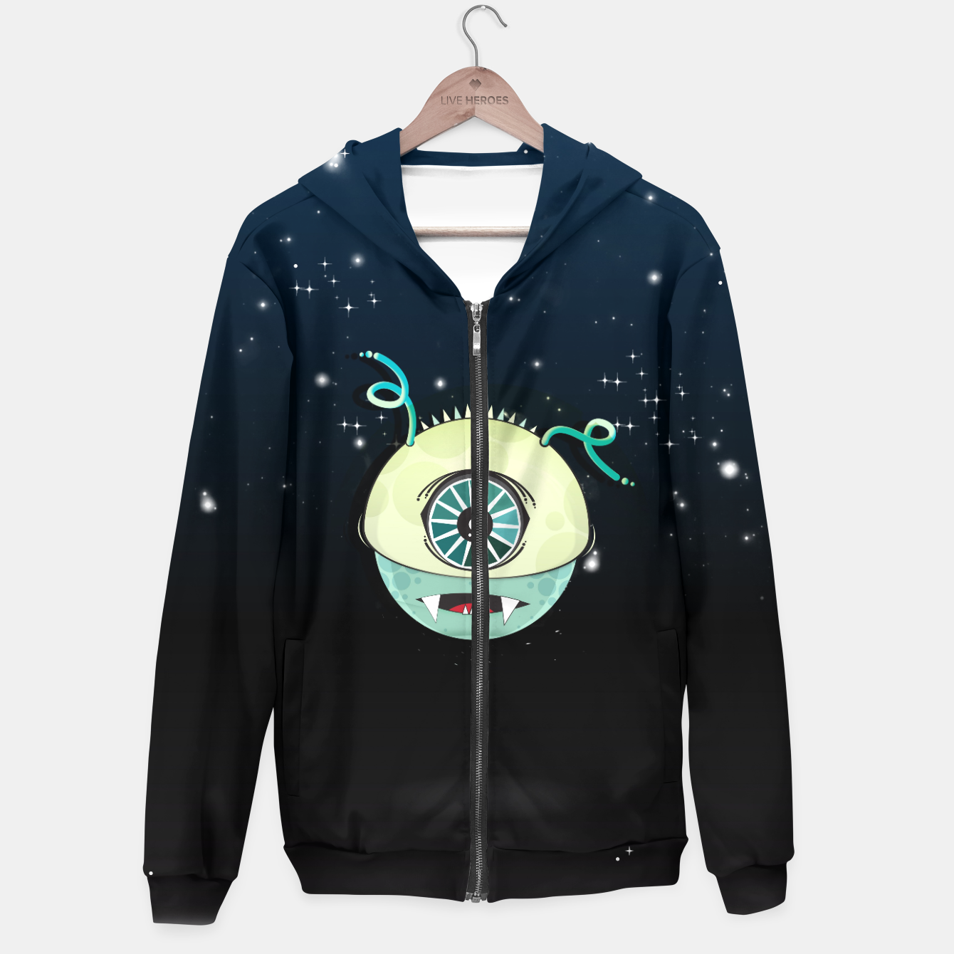 Image of From Space Hoodie - Live Heroes