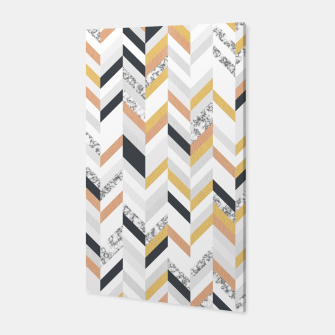 Marble and Gold Chevron Canvas obraz miniatury