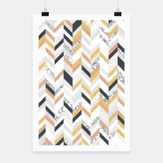 Marble and Gold Chevron Poster obraz miniatury
