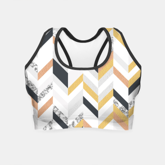 Marble and Gold Chevron Crop Top obraz miniatury