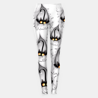 Fun Cat Cartoon in ripped fabric Hole Leggings thumbnail image