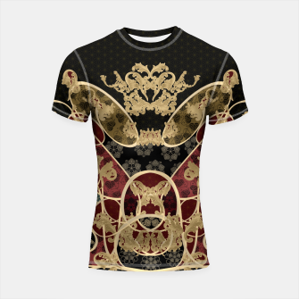 Thumbnail image of Baroque Japanesque design black Shortsleeve Rashguard, Live Heroes