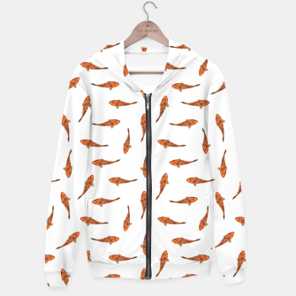 Koi Fishes Motif Pattern Hoodie miniature