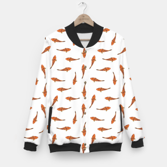 Koi Fishes Motif Pattern Baseball Jacket miniature