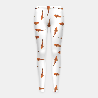 Koi Fishes Motif Pattern Girl's Leggings miniature
