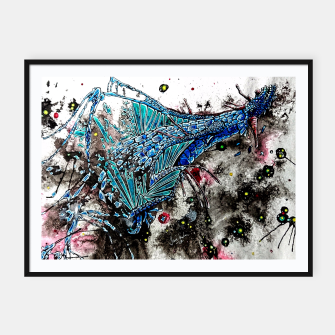 Thumbnail image of Blue Dragon Framed poster, Live Heroes