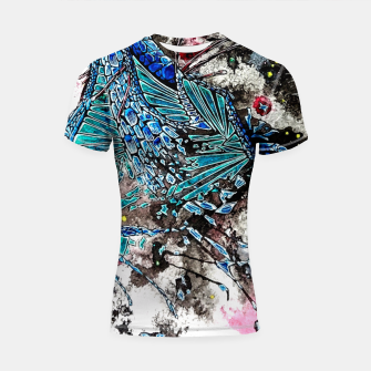 Thumbnail image of Blue Dragon Shortsleeve Rashguard, Live Heroes