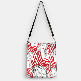 Miniaturka Marques Almeida Fashion Illustration Print Handbag, Live Heroes