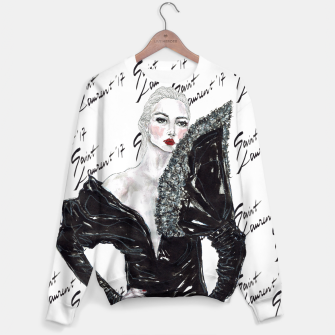 Miniaturka Saint Laurent Fashion Illustration Sweater, Live Heroes