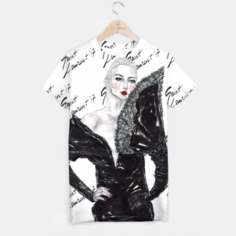 Miniaturka Saint Laurent Fashion Illustration T-shirt, Live Heroes