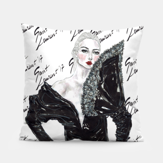 Miniaturka Saint Laurent Fashion Illustration Pillow, Live Heroes
