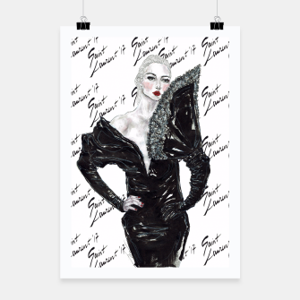 Thumbnail image of Saint Laurent Fashion Illustration Poster, Live Heroes