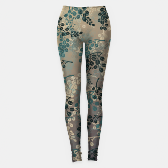 Thumbnail image of Japanese traditional Kamon decoration bush clover Leggings, Live Heroes