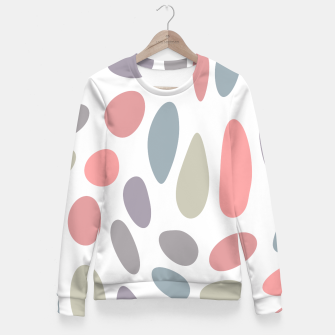 Thumbnail image of Colorful pastel pebbles Fitted Waist Sweater, Live Heroes