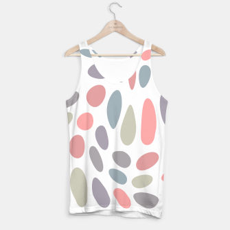 Miniatur Colorful pastel pebbles Tank Top, Live Heroes