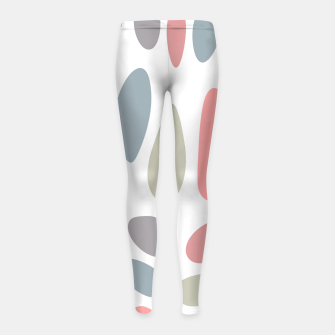 Thumbnail image of Colorful pastel pebbles Girl's Leggings, Live Heroes