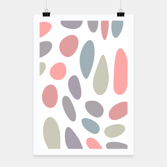 Thumbnail image of Colorful pastel pebbles Poster, Live Heroes