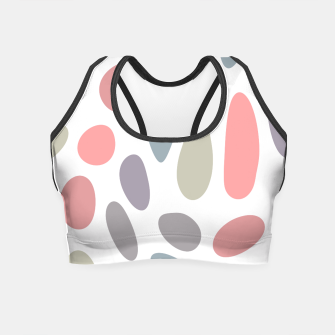 Thumbnail image of Colorful pastel pebbles Crop Top, Live Heroes