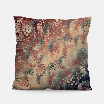 Thumbnail image of Japanese traditional Kamon decoration bush clover Pillow, Live Heroes