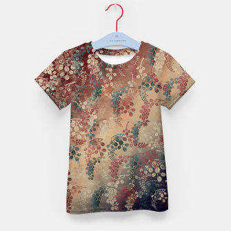 Thumbnail image of Japanese traditional Kamon decoration bush clover Kid's T-shirt, Live Heroes