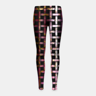 Thumbnail image of Wind Glyph Weave Girl's Leggings, Live Heroes