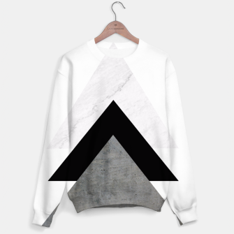 Arrows Collages Monochrome  Sweater miniature