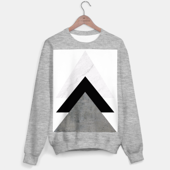 Thumbnail image of Arrows Collages Monochrome  Sweater regular, Live Heroes