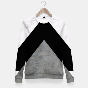 Arrows Collages Monochrome  Fitted Waist Sweater miniature