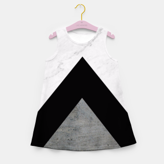 Thumbnail image of Arrows Collages Monochrome  Girl's Summer Dress, Live Heroes