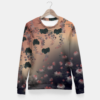 Miniature de image de Japanesque flower decoration Fitted Waist Sweater, Live Heroes