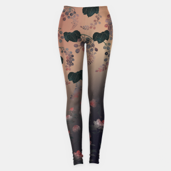 Thumbnail image of Japanesque flower decoration Leggings, Live Heroes