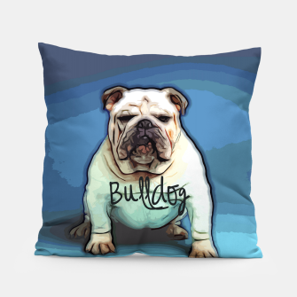 Thumbnail image of  British Bulldog Pillow, Live Heroes